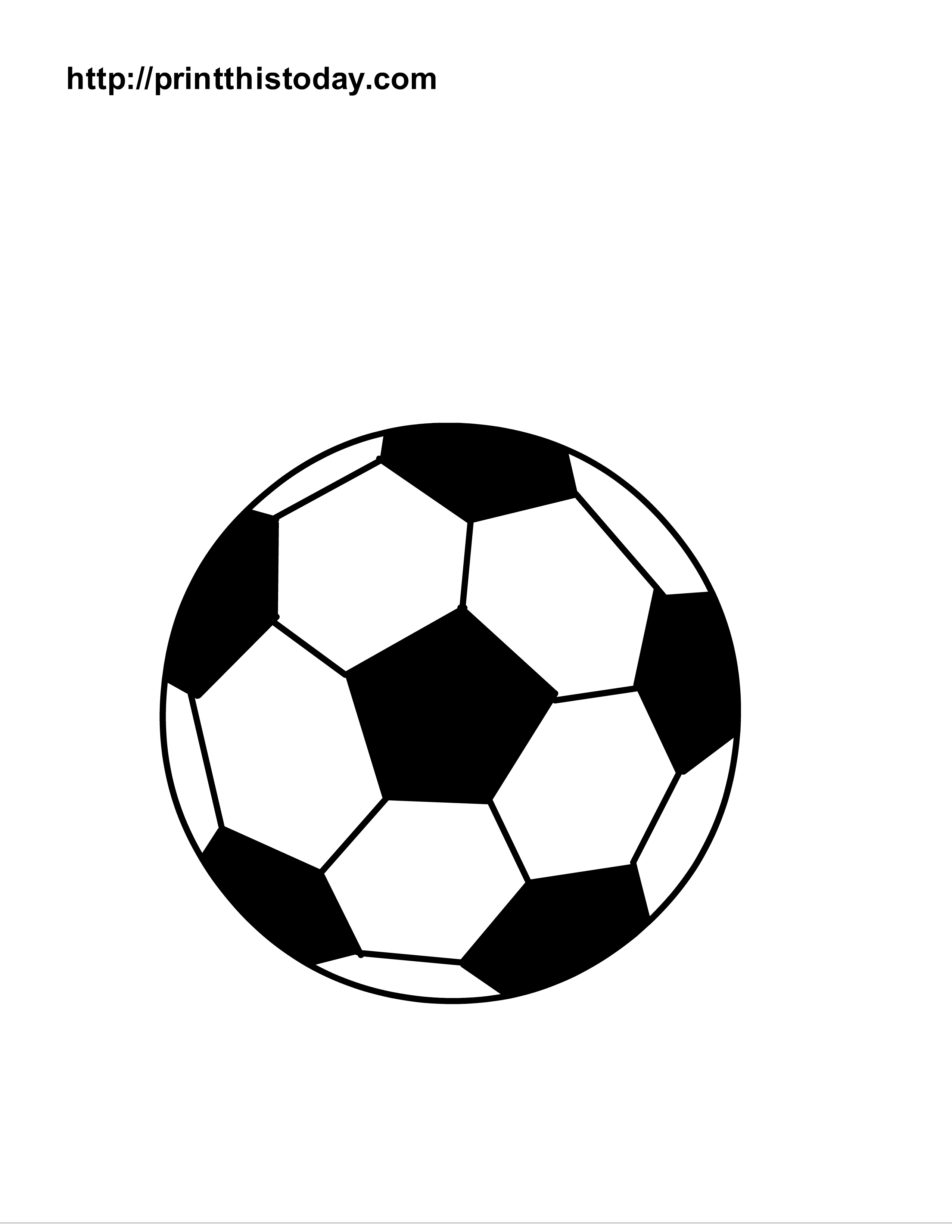 2550x3300 Small Soccer Ball Coloring Page