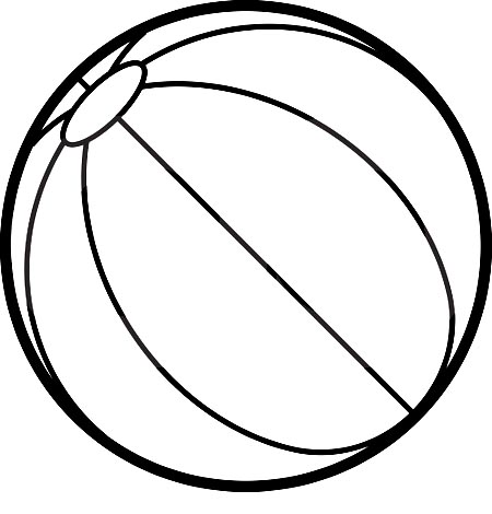 450x470 Ball Coloring Pages