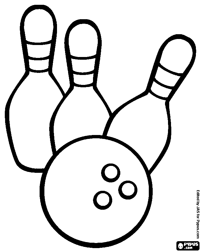 670x840 Bowling Coloring Pages