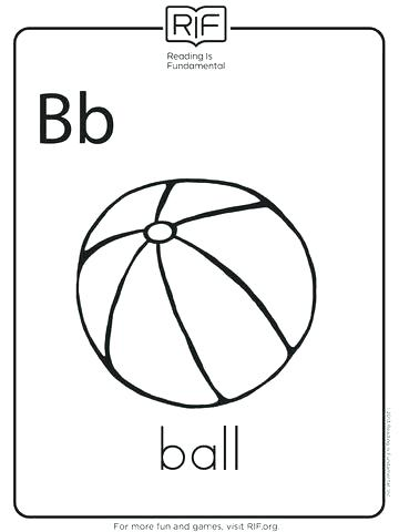 360x480 B Is For Ball Coloring Page Sesame Street Printable Coloring Pages