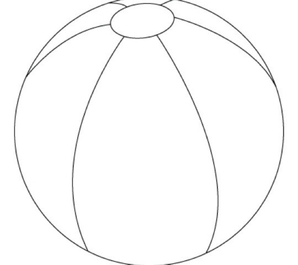 1024x910 Fine Design Beach Ball Coloring Page Printable Archives