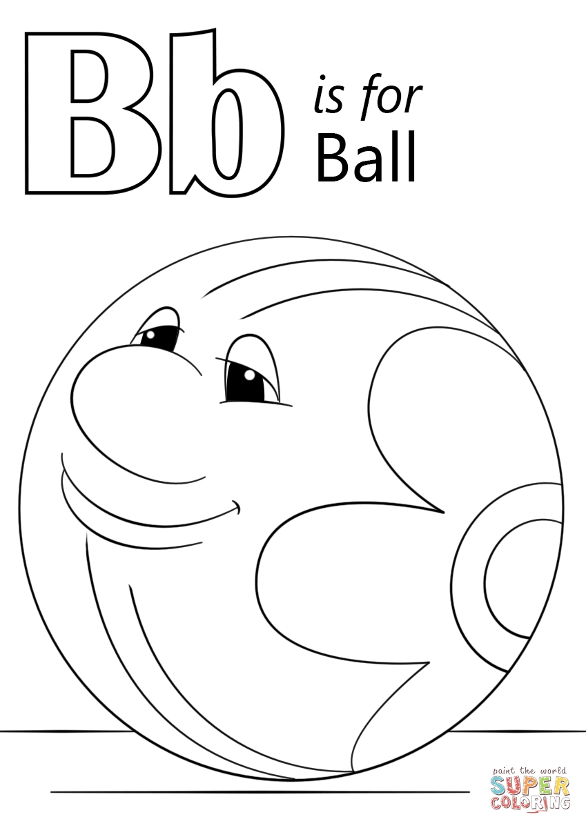 849x1200 B Is For Ball Coloring Page Printable