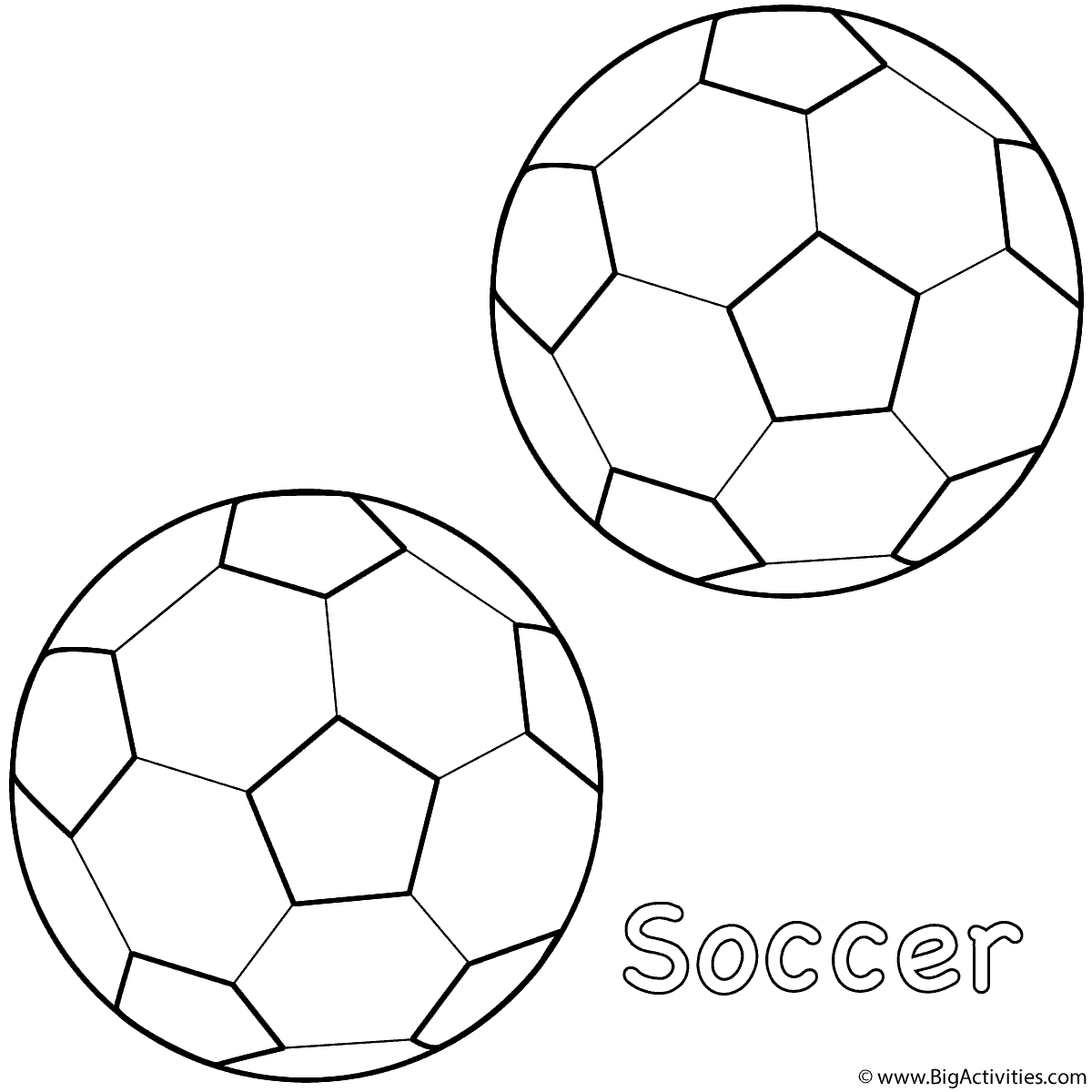 1200x1200 Soccer Balls Coloring Page Sports Soccer Ball Coloring Page