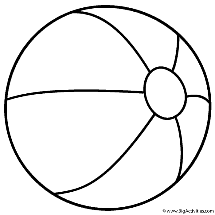 700x700 Ball Coloring Pages Printable
