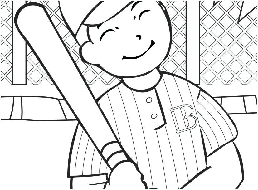 827x609 Baseball Glove Coloring Page Printable Baseball Coloring Pages