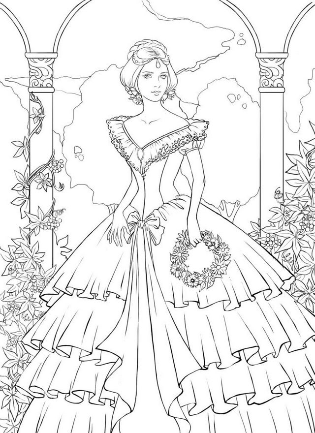 Ball Gown Coloring Pages