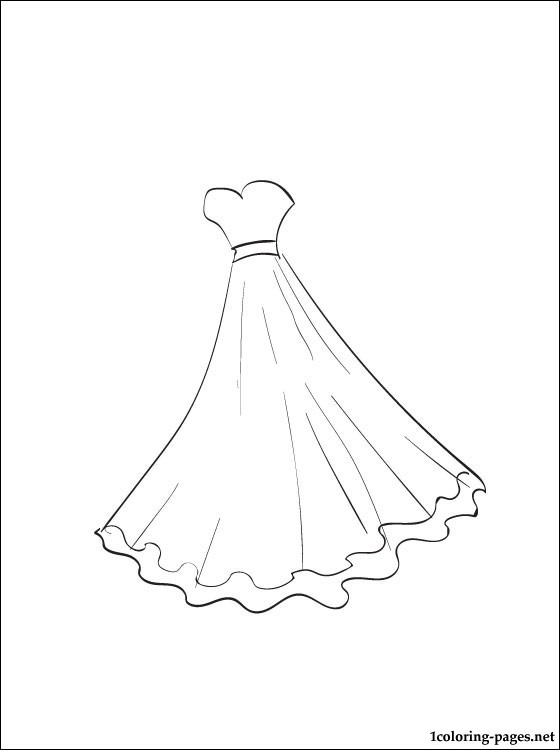 560x750 Ball Gown Coloring Page Coloring Pages