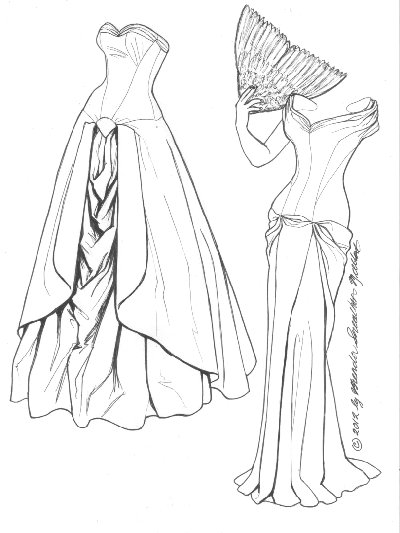 400x533 Ball Gown Coloring Pages