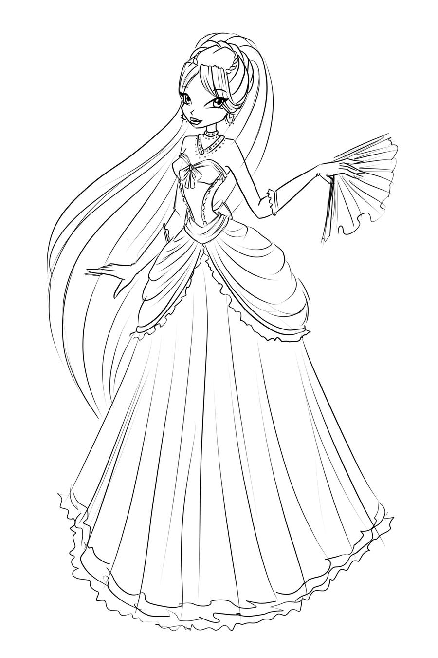 900x1350 Com Sketch Diana Ball Dress