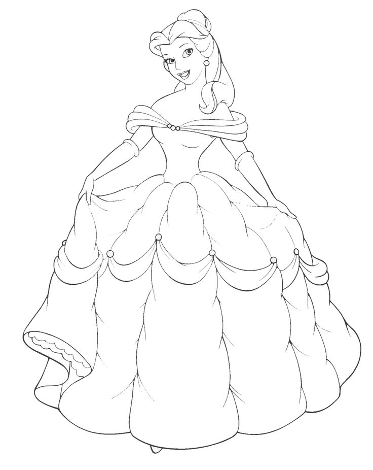 736x926 Disney Princess Coloring Pages Ariel In A Dress