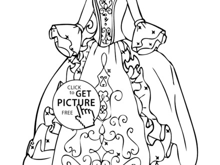 440x330 Dress Coloring Pages To Print, Dress Coloring Pages To Download