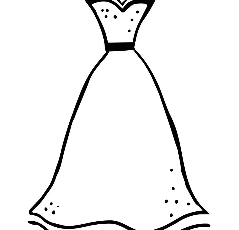 800x768 Dress Coloring Pages Coloring Page Of A Dress Printable Formal