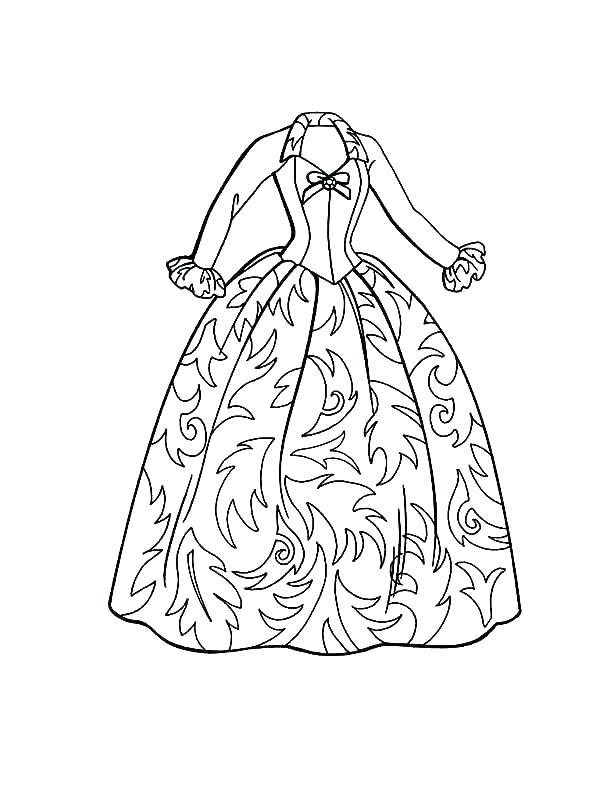 600x800 Dress Coloring Pages Gets Dressed Coloring Pages Coloring Page