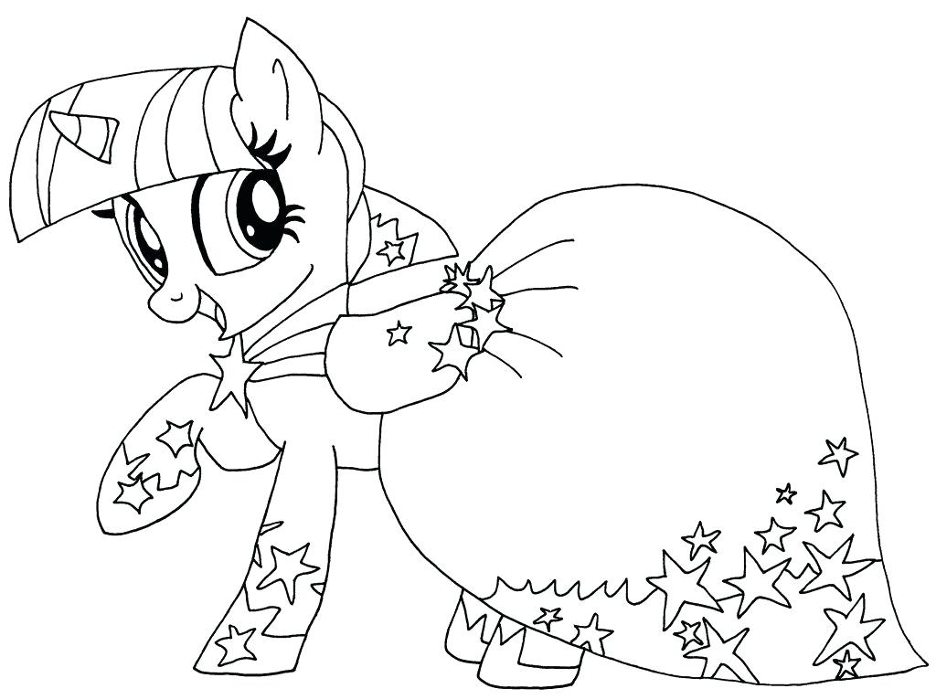1024x765 Dress Coloring Pages Stunning Twilight Sparkle Coloring Page