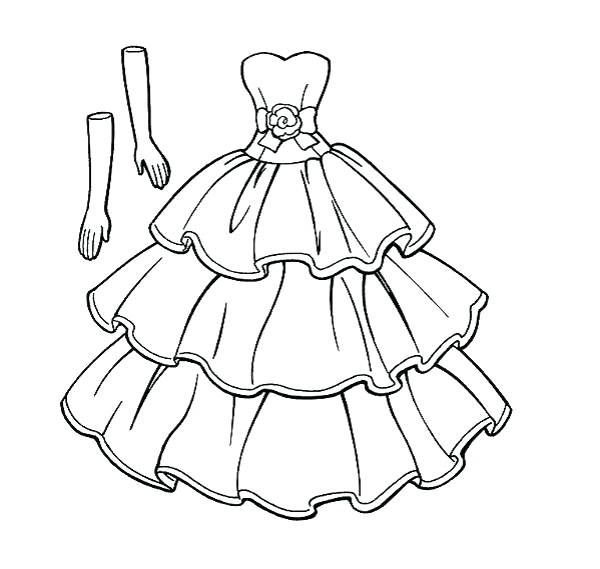 600x569 Dress Coloring Pages Trend Dresses Coloring Pages Online Girls