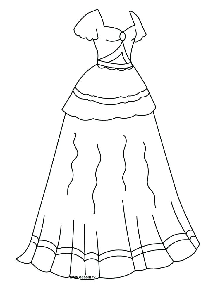 728x971 Dresses Coloring Pages In Beautiful Ball Dress Coloring Page