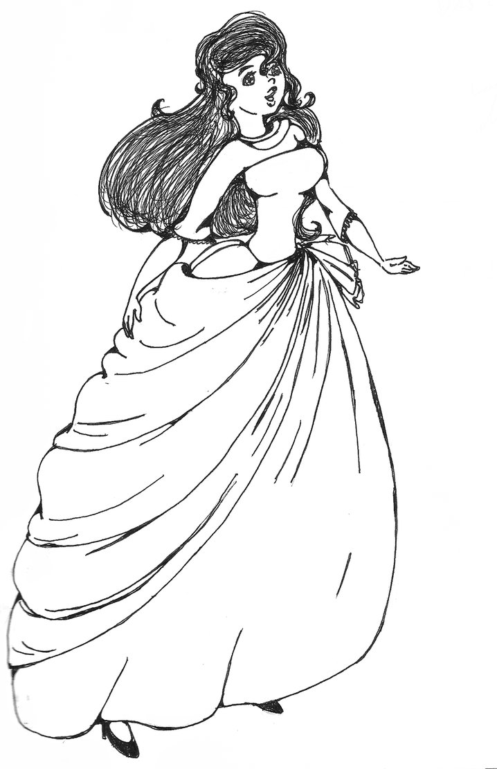 718x1112 Aramina In Ball Dress Coloring Dragon Colouring Pages