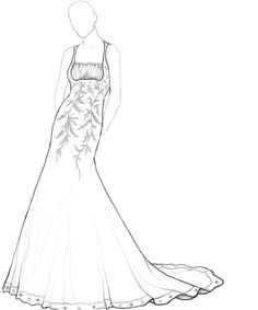 236x283 Prom Dress Ball Gown Coloring Pages Fashion Dresses