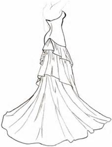 228x299 Ball Gown Coloring Pages