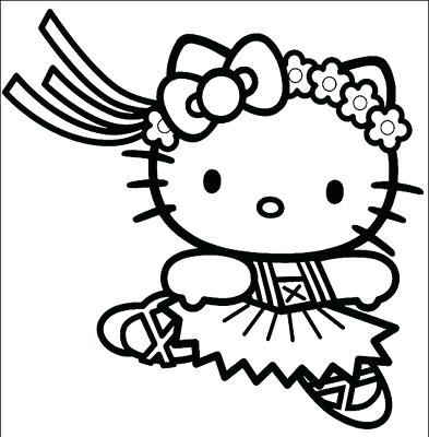393x400 Ballet Coloring Page Hello Kitty Ballerina Coloring Page Hello