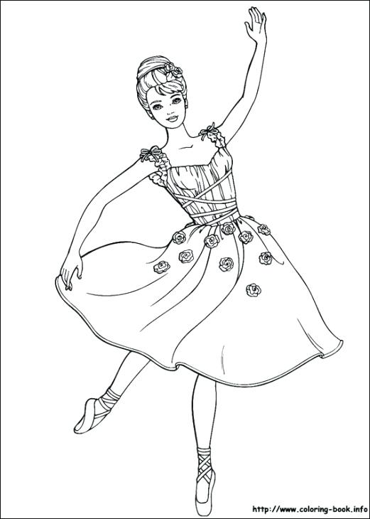 521x730 Barbie Ballerina Coloring Pages Barbie Becoming Beautiful