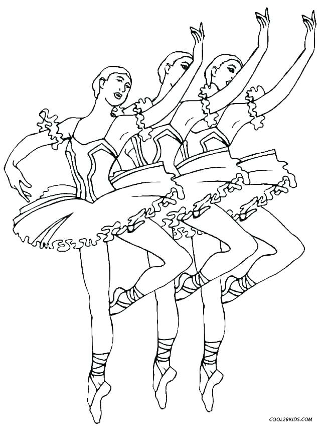 638x850 Ballerina Coloring Page