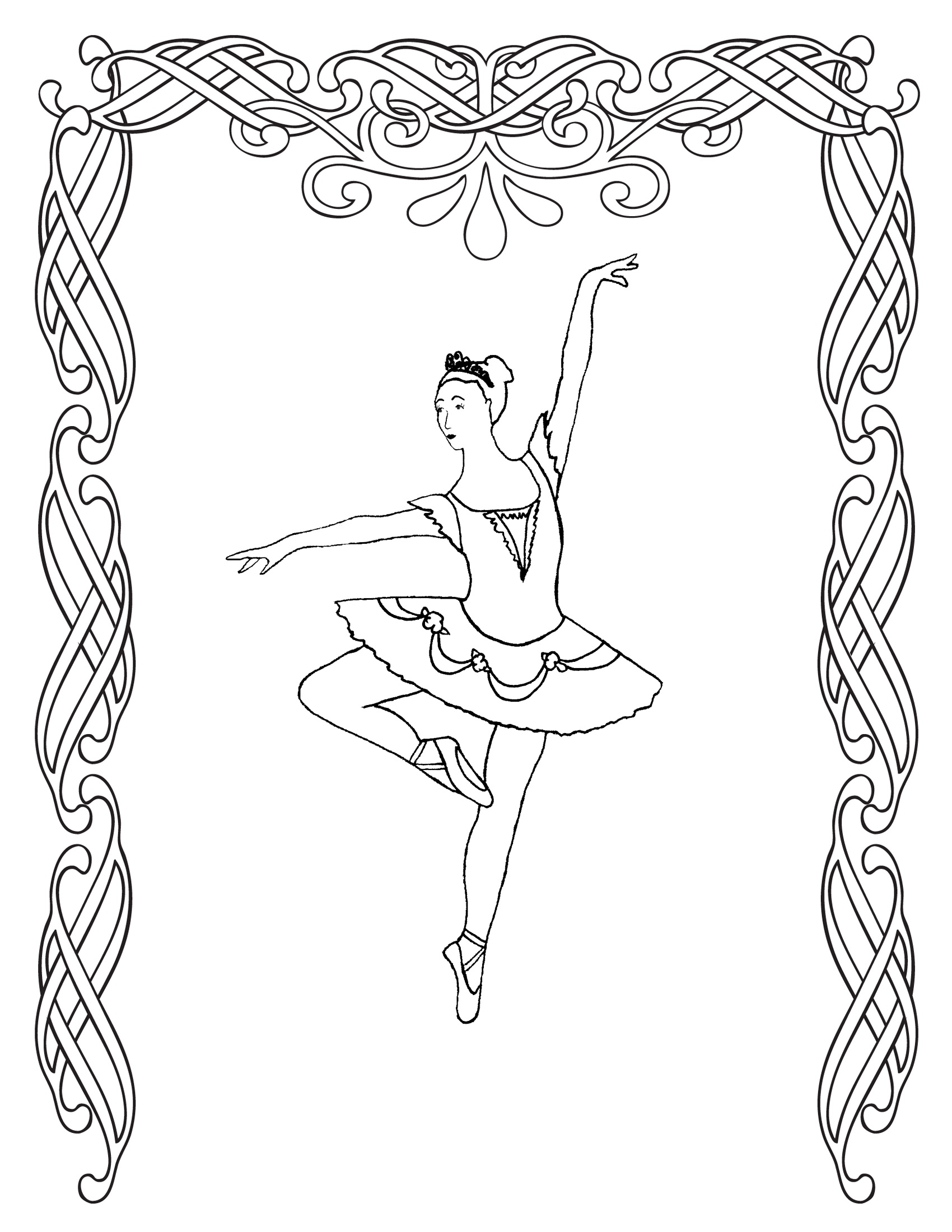 1700x2200 Free Printable Ballet Coloring Pages