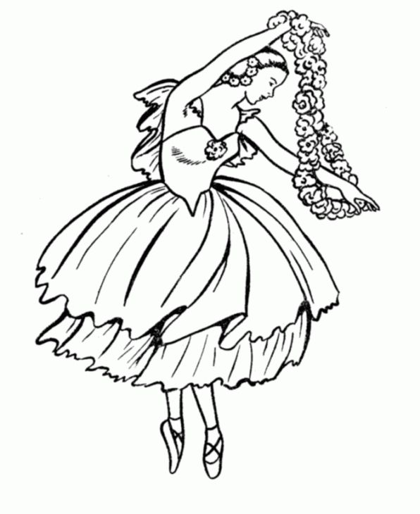 596x730 Ballerina Coloring Page Coloring Pages For Girls