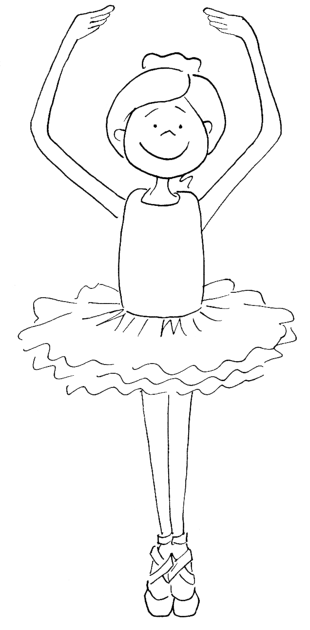 636x1291 Ballerina Coloring Pages For Childrens Printable Free Within Page