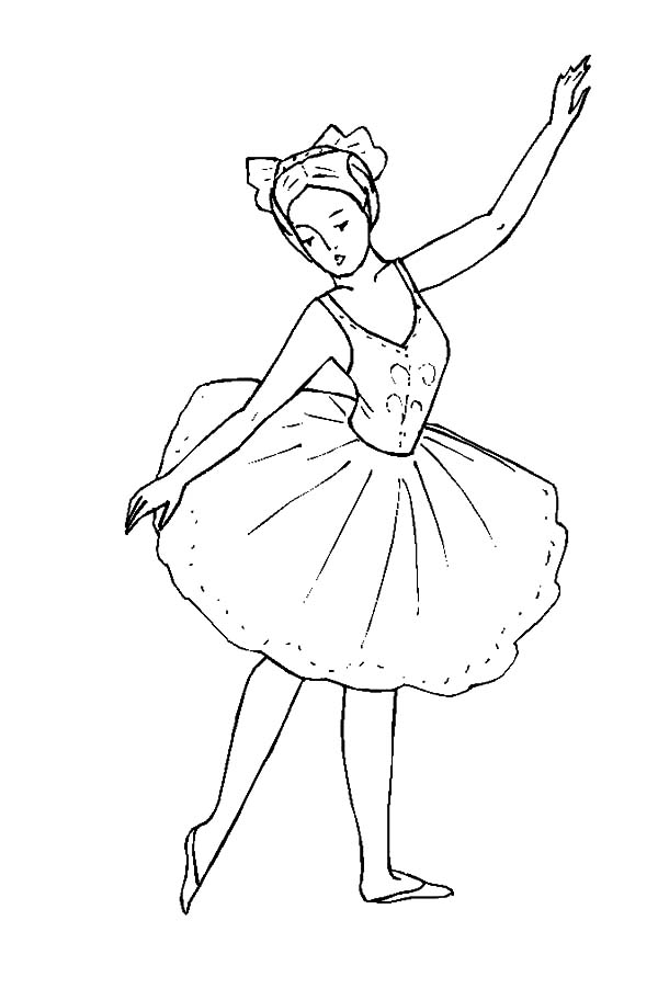 600x912 Ballerina Girl Dance Coloring Pages Coloring Sky In Style