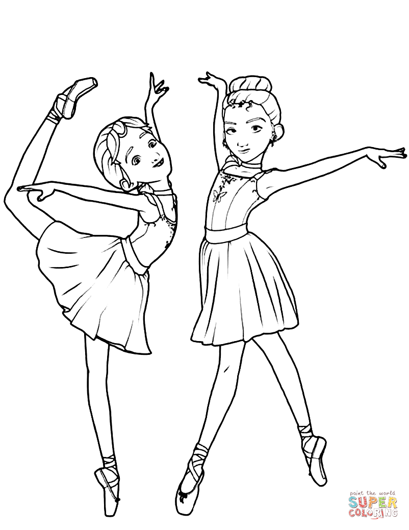 802x1038 Ballerina Coloring Pages Leap Free