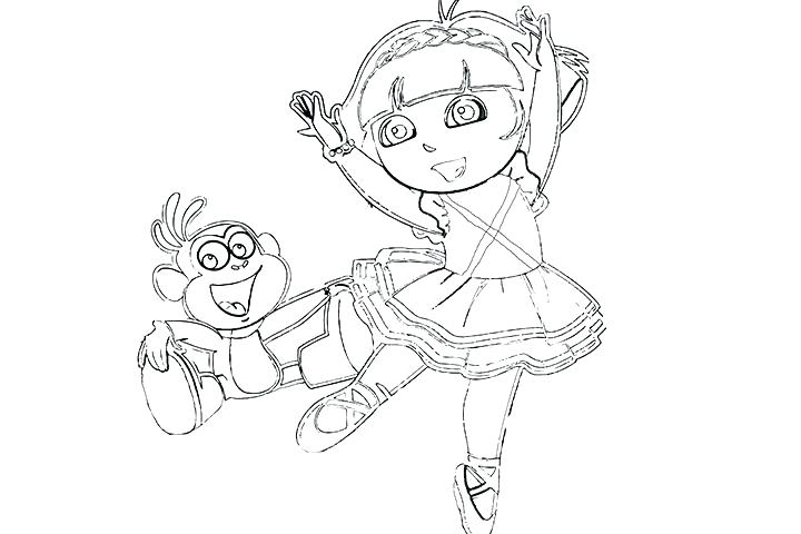 720x480 Ballet Coloring Pages Ballerina Coloring Pages With Ballerina