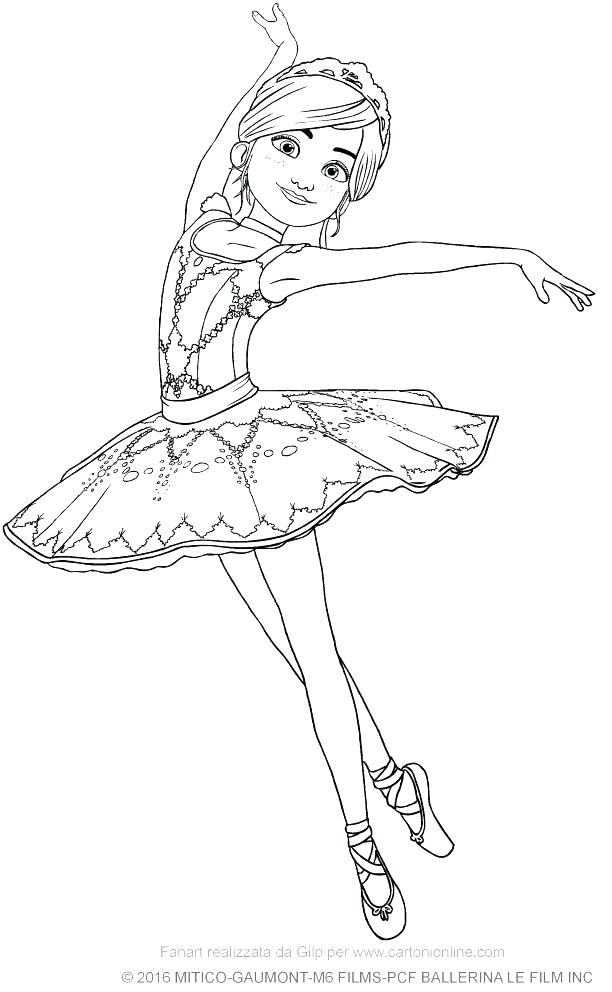 612x992 Ballet Coloring Pages The Ballerina Coloring Page Free Ballet