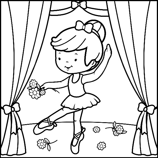 556x556 Cool Design Ballerina Coloring Pages For Adults First Position