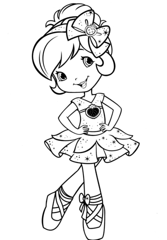 334x480 Ballerina Coloring Page