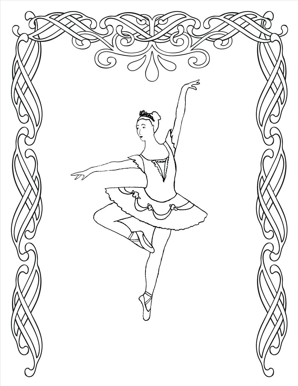 1023x1325 Coloring Pages Ballerina Coloring Pages Surprising Page