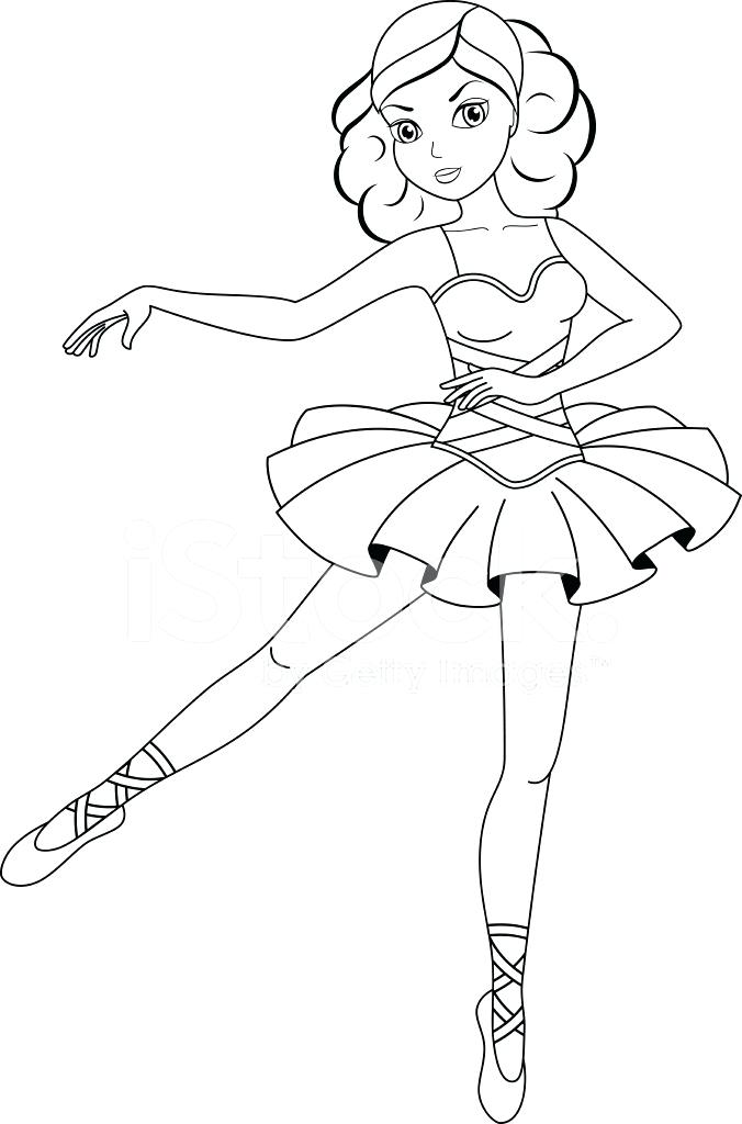 Ballerina Coloring Pages For Kids at GetDrawings | Free ...