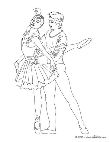 364x470 Beautiful Ballerina Coloring Pages