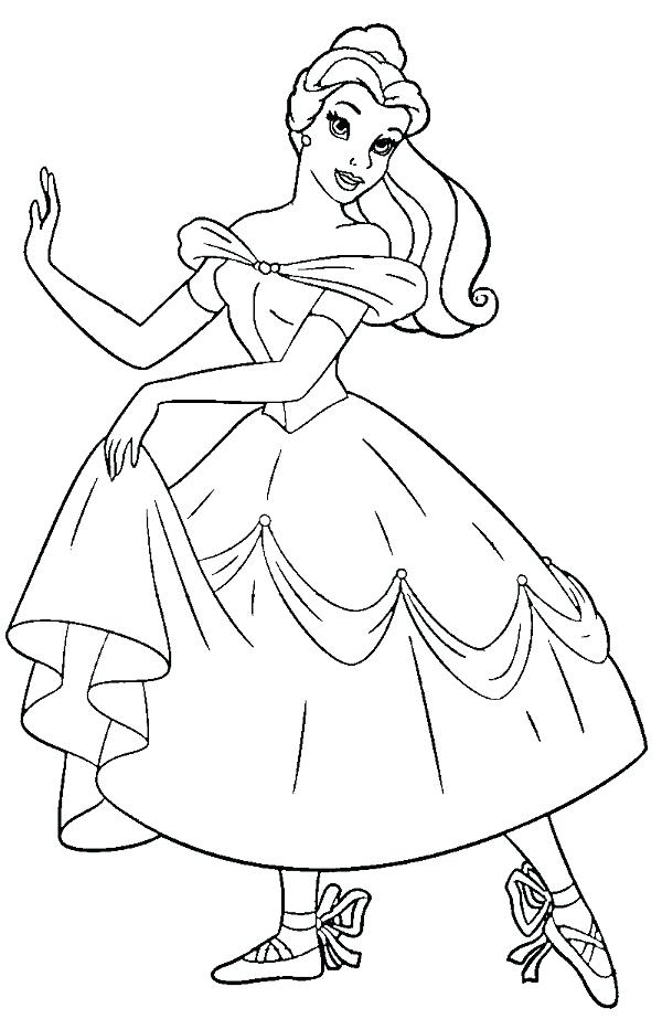 600x923 Ballet Coloring Page