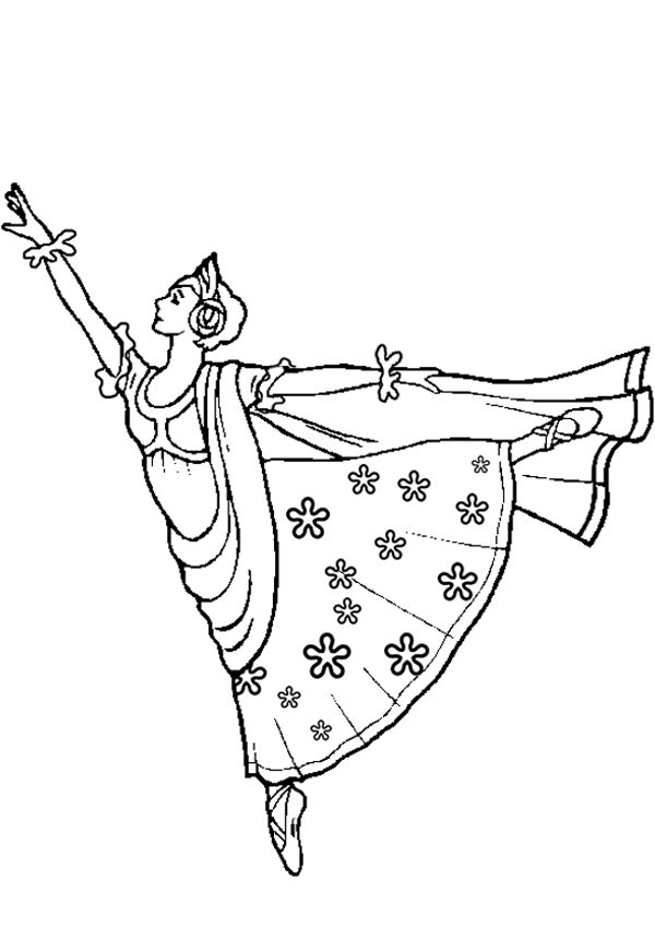 600x850 Ballerina Coloring Pages For Christmas