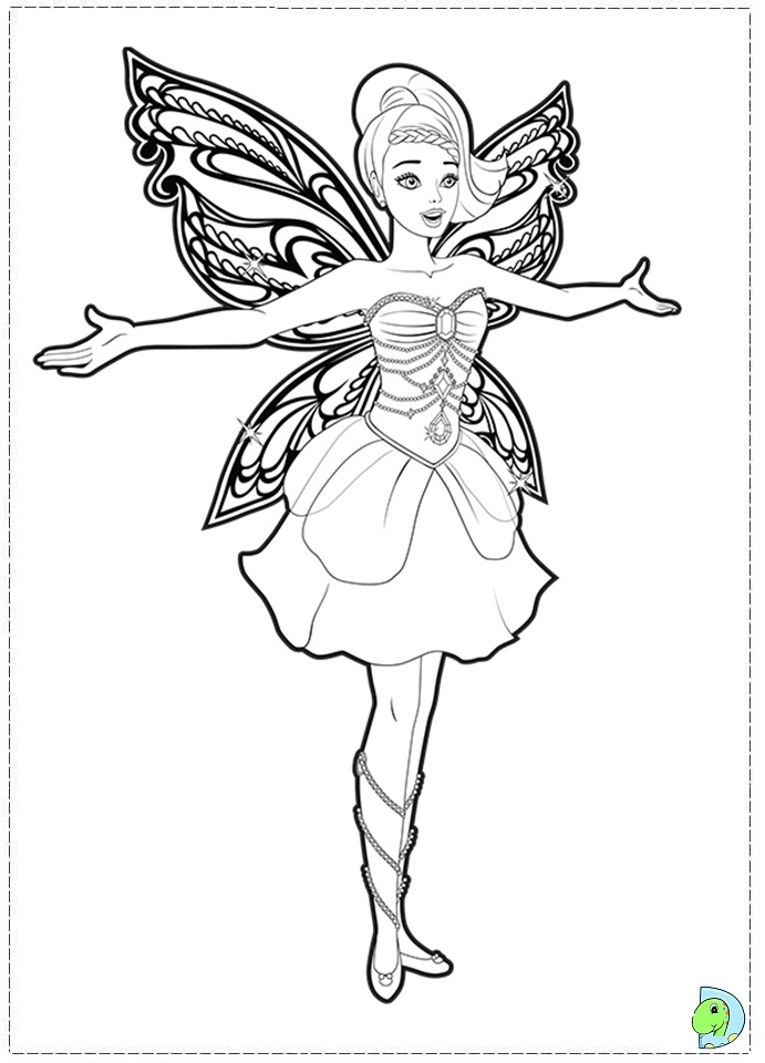 691x960 Barbie Fairy Coloring Pages