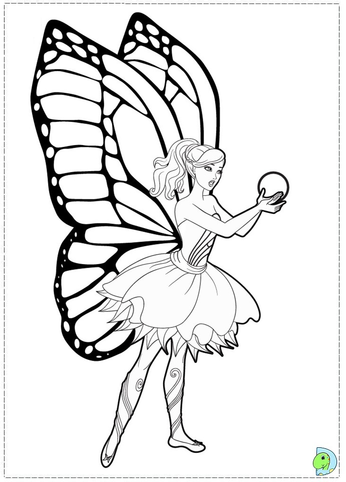 691x960 Barbie Mariposa And The Fairy Princess Coloring Page