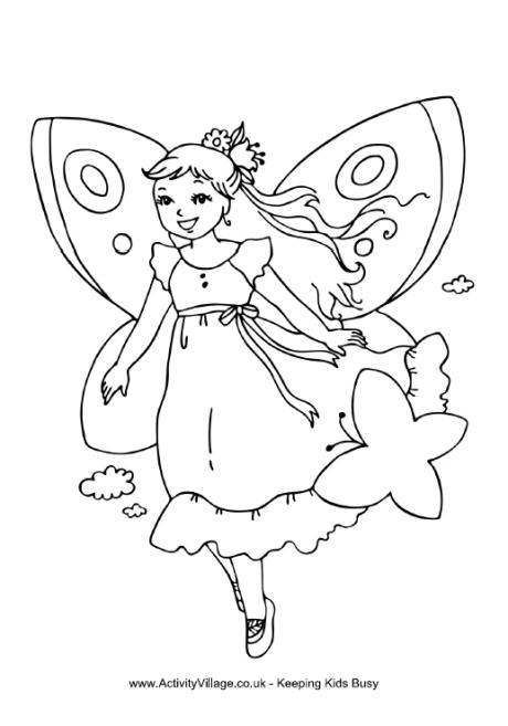 460x657 Fairy Colouring Pages