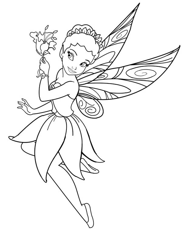 600x759 Fairy Pick A Flower Coloring Pages Batch Coloring