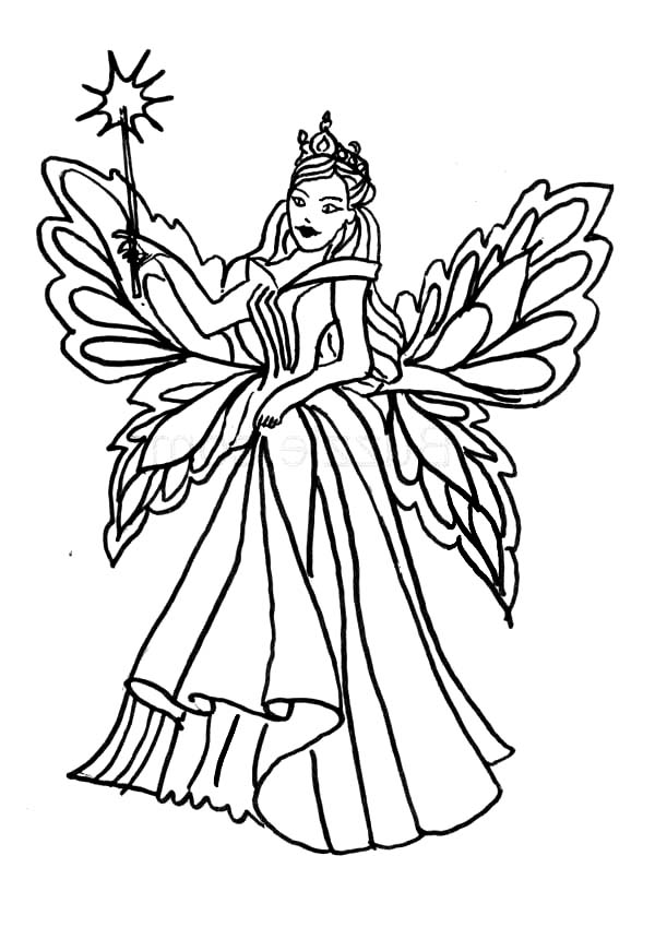 600x860 Queen Of Fairy Coloring Pages Batch Coloring