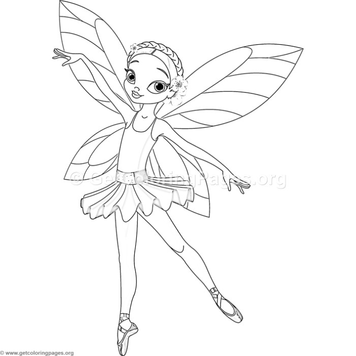 700x700 Ballerina Fairy Coloring Pages