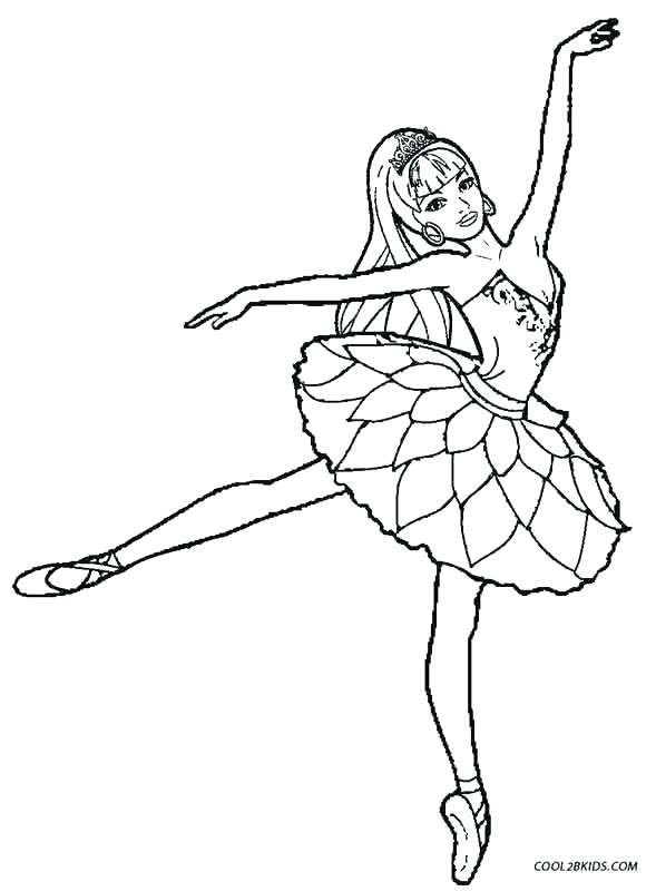 589x800 Barbie Ballerina Coloring Pages Free Ballerina Coloring Pages