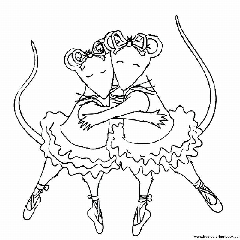 800x800 Coloring Pages Angelina Ballerina
