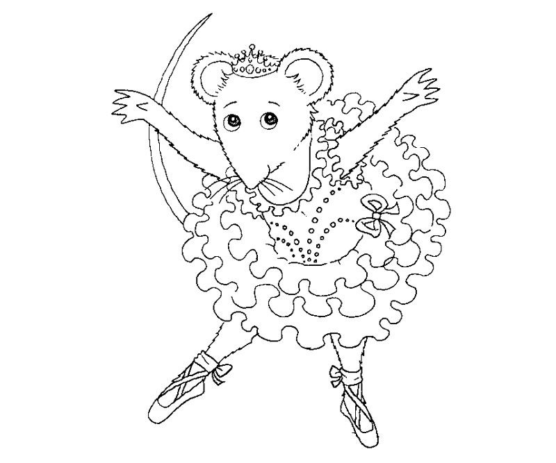 800x667 Angelina Ballerina Coloring Pages