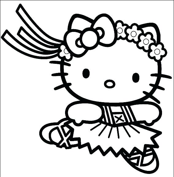 567x577 Free Ballerina Coloring Pages